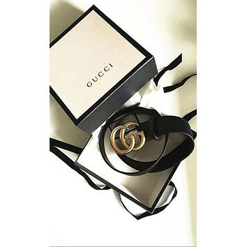 GUCCI men and women fashion tide belt belt + gift box F