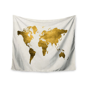 """Chelsea Victoria """"Let Love Light The Way"""" Gold Love Wall Tapestry"""