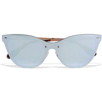 Ray-Ban - Cat-eye acetate mirrored sunglasses