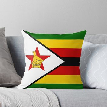 'ZIMBABWE' Throw Pillow by planetterra