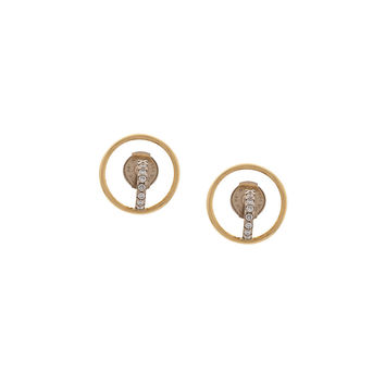 Charlotte Chesnais Saturn XS Earrings - Gold Diamond Earrings