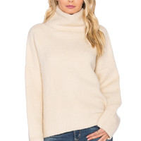 J.O.A. Turtleneck Sweater in Ivory
