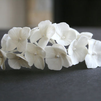Hydrangea comb, Bridal flower headpiece, Bridal flower comb, Bridal hair flower, Wedding flower comb, Bridal hair accessories