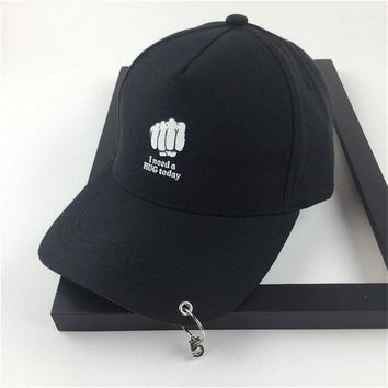 CREYCI7 Fashion 2017 hot style iron rings letter embroidery Hats  adjustable   Baseball cap boys and girls cap