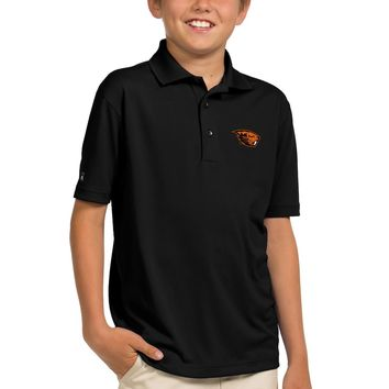 Oregon State Beavers Antigua Youth Pique Desert Dry Xtra-Lite Polo - Black
