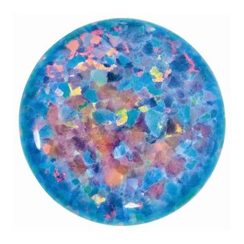 Loose Imitation Opal Gemstone Black  5mm Round Cabochon