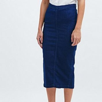 Waven Denim High Waist Pencil Skirt in Blue - Urban Outfitters