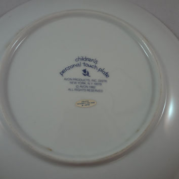 Avon Personal Touch Plate l982