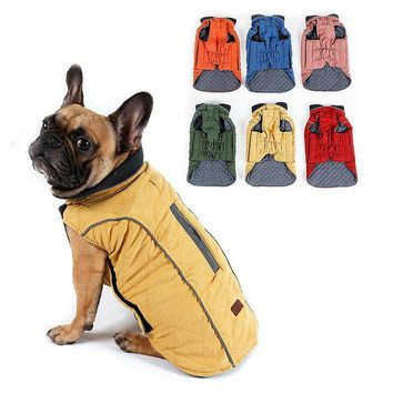 Quilted Dog Coat Water Repellent Winter Jacket