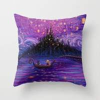 The Lantern Scene Throw Pillow by Kimberly Castello
