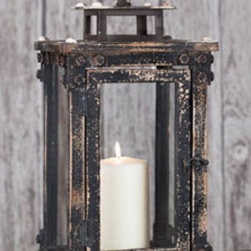 Tall Wooden Garden Lantern, Beautiful Lantern, Wooden Lantern, Shabby Chic/ Primitive Lantern