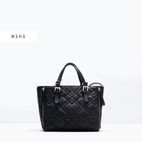 Quilted mini city bag