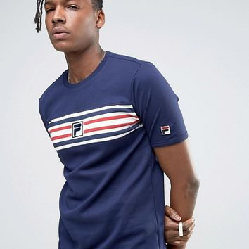 Fila Vintage T-Shirt With Stripe Panel at asos.com