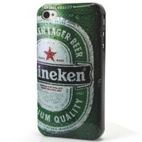 Frozen Beer Water Drops Heineken Pattern Hard Back Case Cover for iPhone 4, 4G and 4S