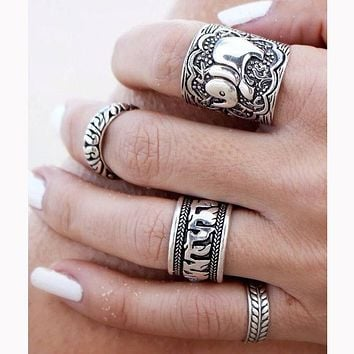 Vintage Punk Ring Set