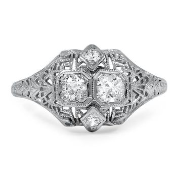 18K White Gold The Ceara Ring