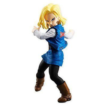 Bandai Shokugan Dragon Ball Z Styling Android 18 Molded PVC Figure USA Authentic