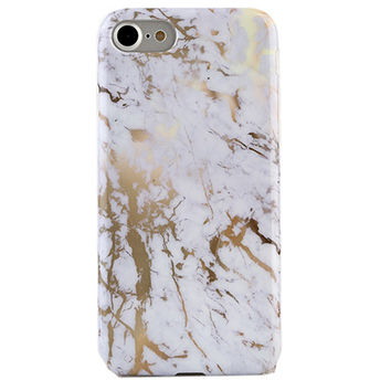 Golden White Marble iPhone Case