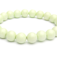 Lemon Chrysoprase Beaded Bracelet // One-of-a-Kind // Stretch Bracelet // Fresh Look For All Year Long