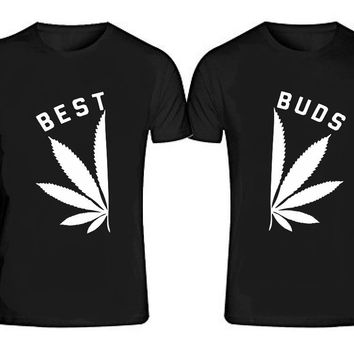 BEST BUDS White T-shirts + Your NAMES or another text on the back