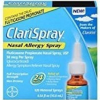 ClariSpray 24 Hour Nasal Allergy Relief Spray with Fluticasone Propionate (120-spray bottle)