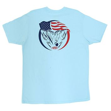 Loud Tee Shirt in Light Blue by AFTCO