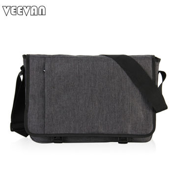 VN 2016 Designer Briefcase Men Messenger Bags Vintage Canvas Shoulder Bag Mens Buisness Bag Attache Laptop Case Office Briefcase