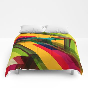 Field of Colors Comforters by All Is One