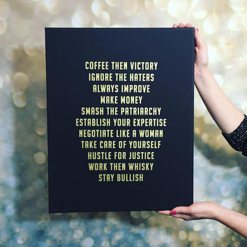 Bullish (Wo)manifesto Canvas Print (16 x 20)
