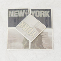 New York City Tile Coaster Set With Glitter Accents and Foam Backing (5) Dishwasher Safe