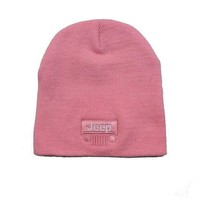 Jeep Grille Pink Knit Cap
