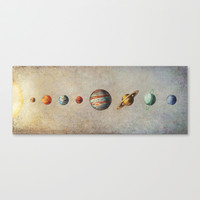 The Solar System Stretched Canvas by Terry Fan