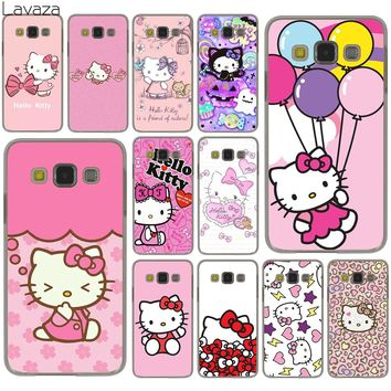 Lavaza lovely cute Hello Kitty lovely pink Hard Case for Samsung Galaxy S9 S8 Plus S3 S4 S5 S6 S7 Edge S9 Plus Phone Cover