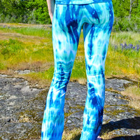 Ocean Blue Meditation Yoga Pant - Festival Gypsy Sea Dance Tights