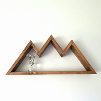 Mountain Shelf, Wooden Shelf, Wood Wall Decor, Storage, Nursery Decor, Wall Art, Kids Room, Bedroom Decor, Mountain Wall Decor, Travel Gift