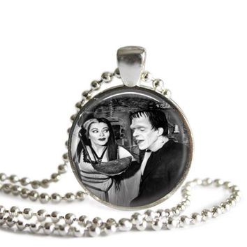Herman and Lily Munster Necklace