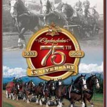 Tin Sign : Budweiser Clydesdales 75th