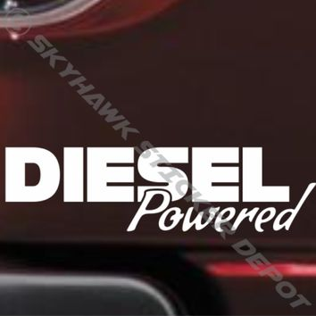 Diesel Powered Bumper Sticker Vinyl Decal Coal Roller Lifted Truck Sticker Ford