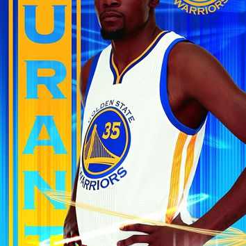Golden State Warriors Kevin Durant Triple Threat 22x34 Basketball Poster