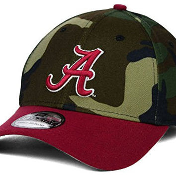 Alabama Crimson Tide New Era 39Thirty Camo Classic Men's Hat Cap (Large / XL)