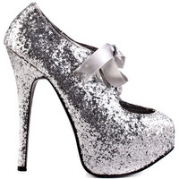 Bordello's Silver Sin City - Silver Glitter for 84.99 direct from heels.com