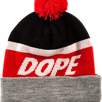 The Victory Beanie in Black and Red