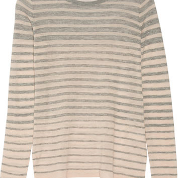 Vince Striped wool-blend sweater – 41% at THE OUTNET.COM