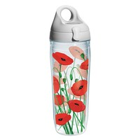 Tervis Poppies 24-oz. Water Bottle (Grey)