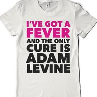 Adam is the only cure-Female White T-Shirt