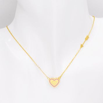 New Fashion Design Six Style Arrow And Love Heart Necklace Stainless Steel Women Luxury Jewelry Best Gift For Wedding