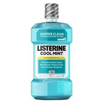 Listerine® Cool Mint® Antiseptic Mouthwash To Get Rid Of Bad Breath - 500ml