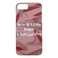 Broken Fragments Abstract Art iPhone 7 Case