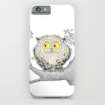 Fuzzy Owl iPhone & iPod Case by Azure Avenue