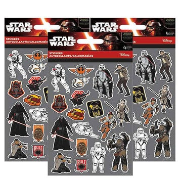 Star Wars Sticker Sheets [3 packs of 4 sheets ea]